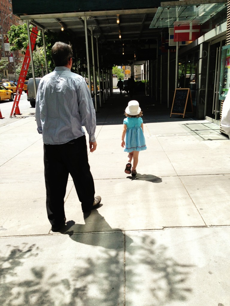 Danny and Lu walking in NY