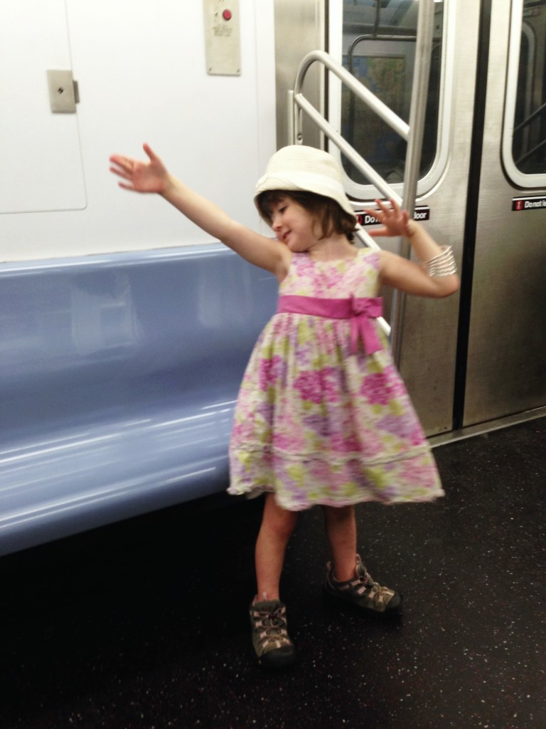 Lu dancing on the subway