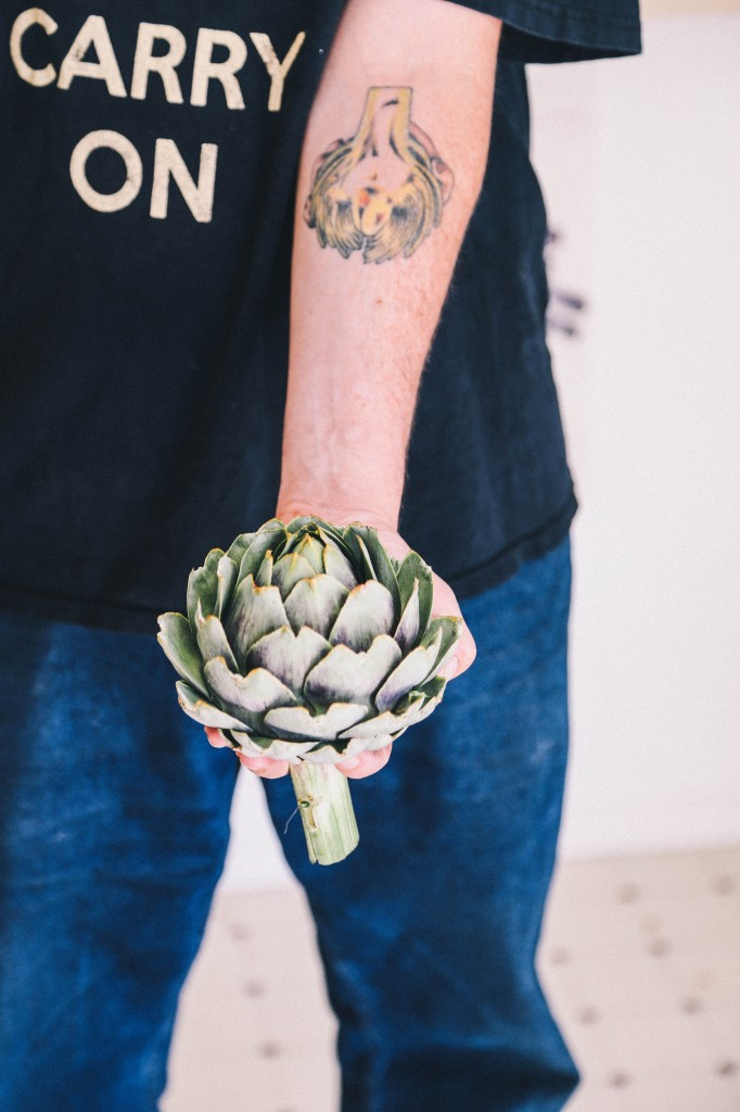 Danny with artichoke