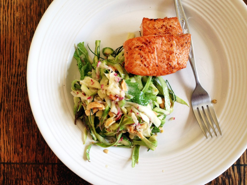 asparagus salad with salmon
