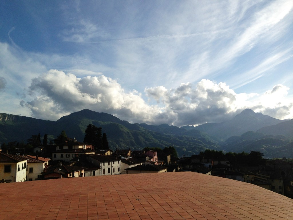 at the top of Barga