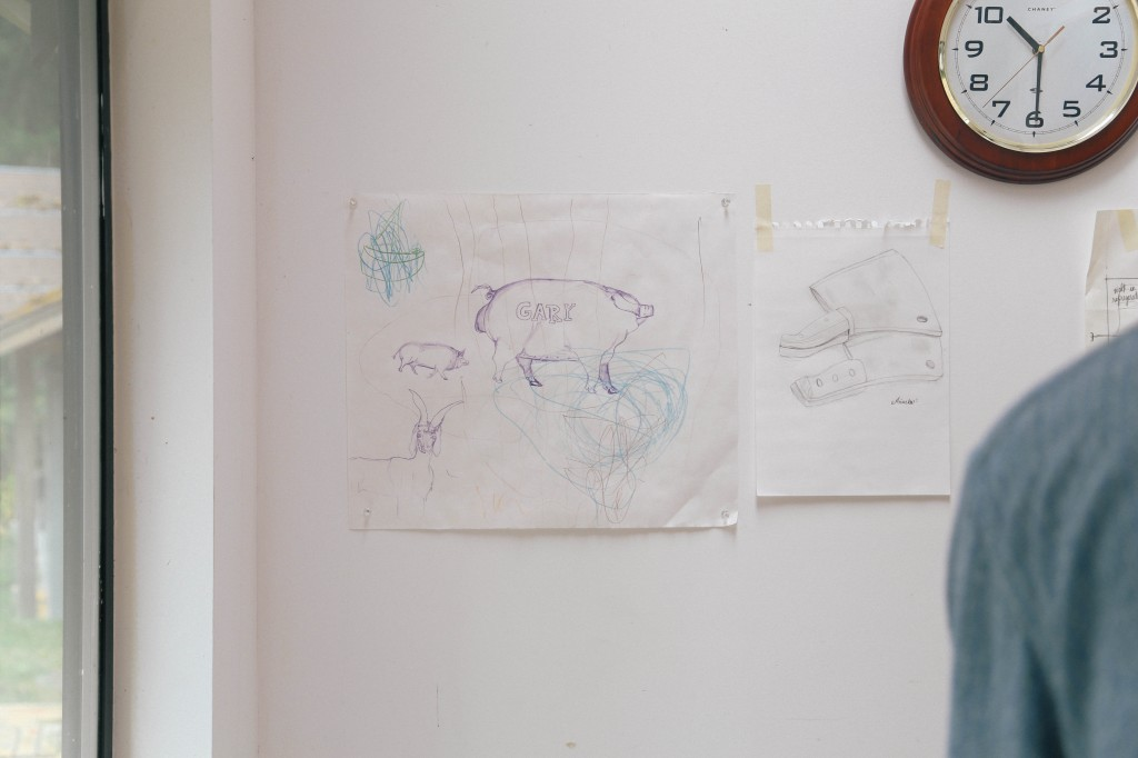 brandon's drawings on the wall