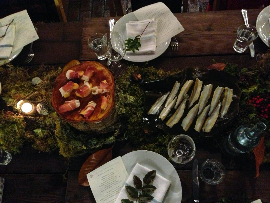 Redzepi- in the middle of the table