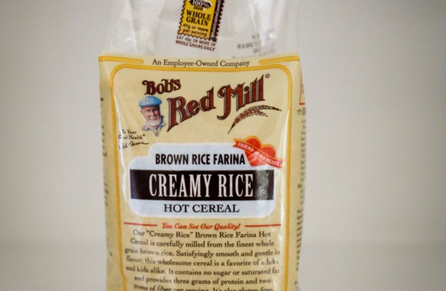 Bob's Red Mill brown rice cereal