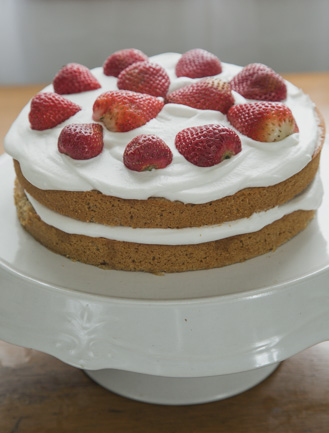 gluten-free honey buckwheat cake