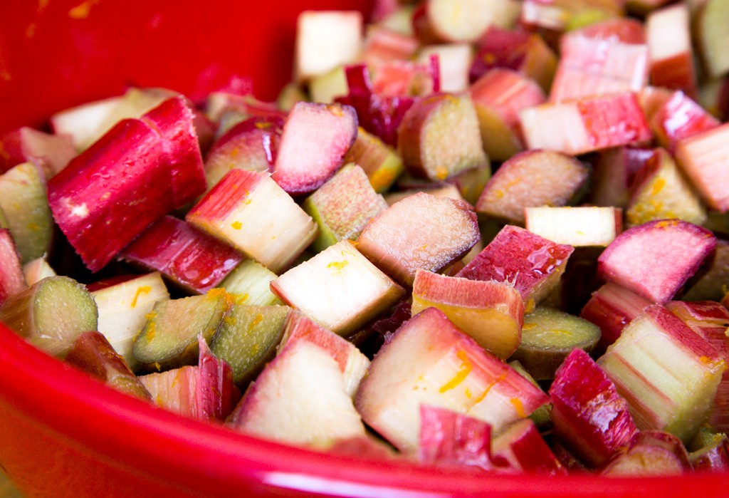 rhubarb waiting to be made into pie