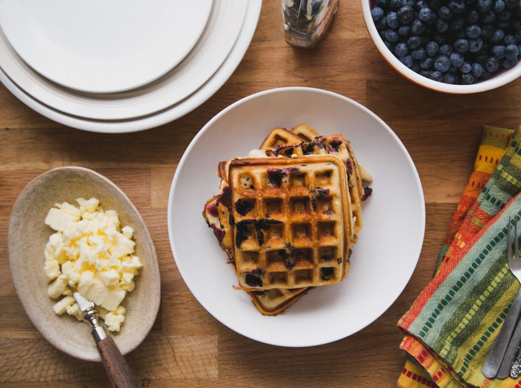 These gluten-free blueberry waffles are a near constant in our house ...