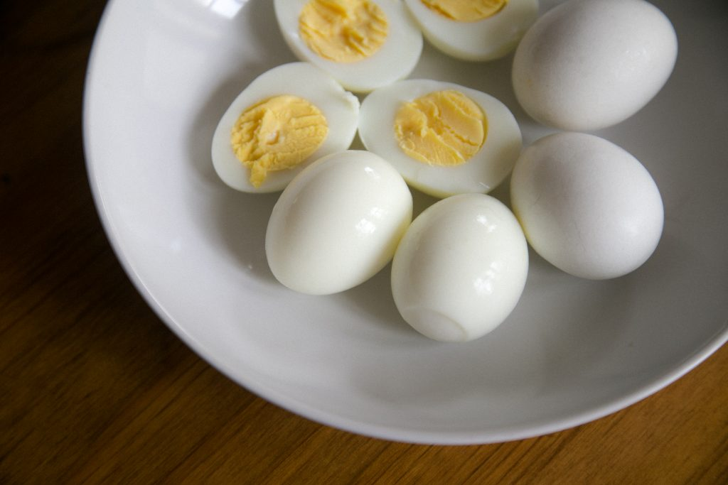 hard-boiled eggs