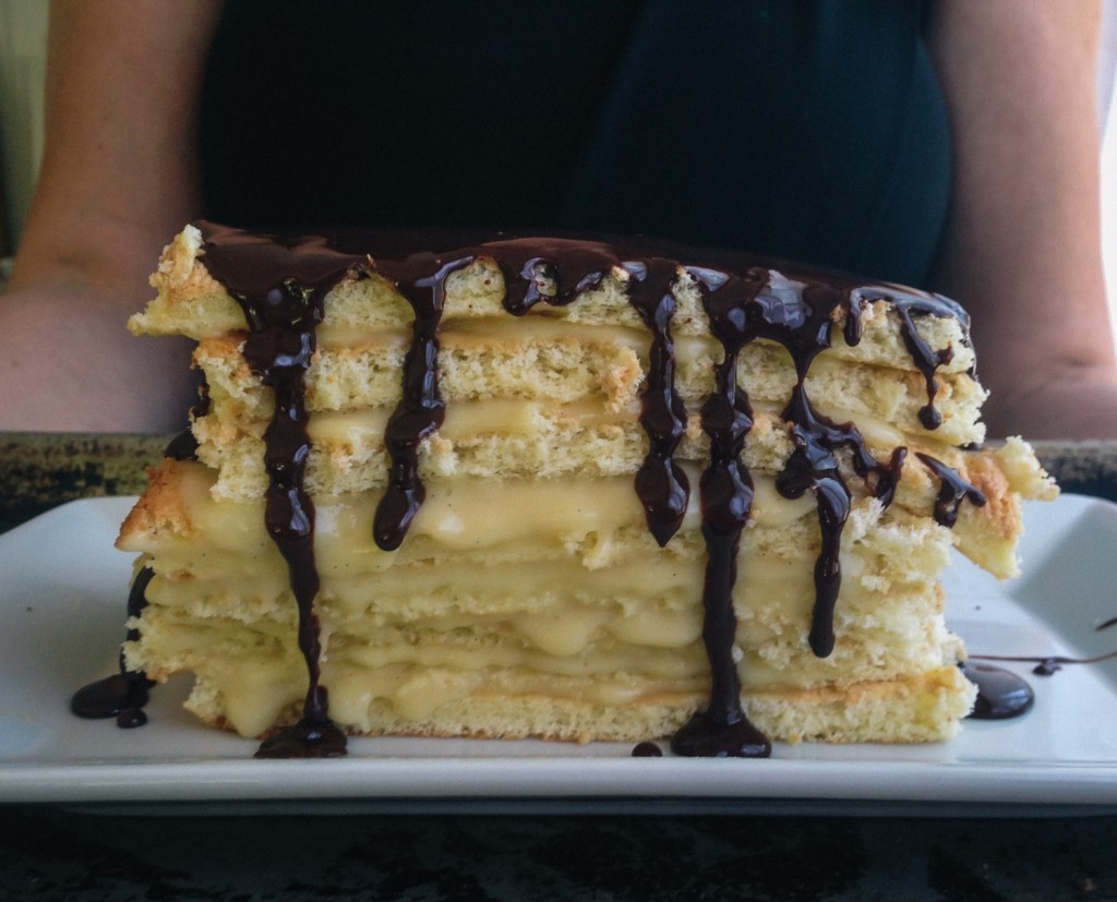 community- boston cream pie