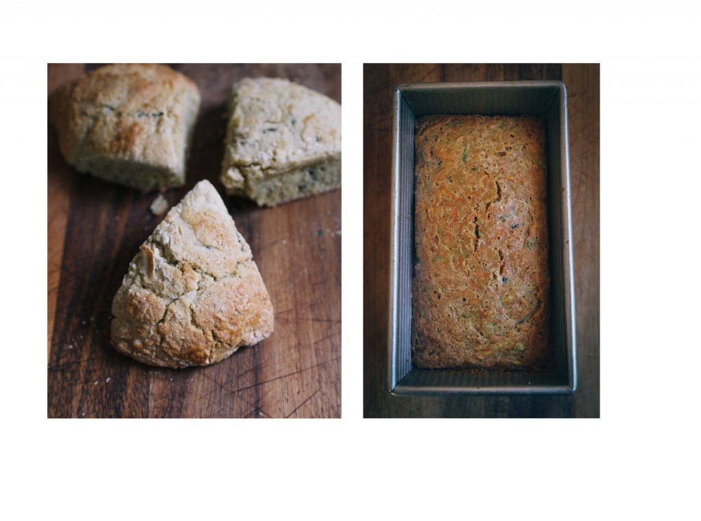 lemon basil and zucchini bread